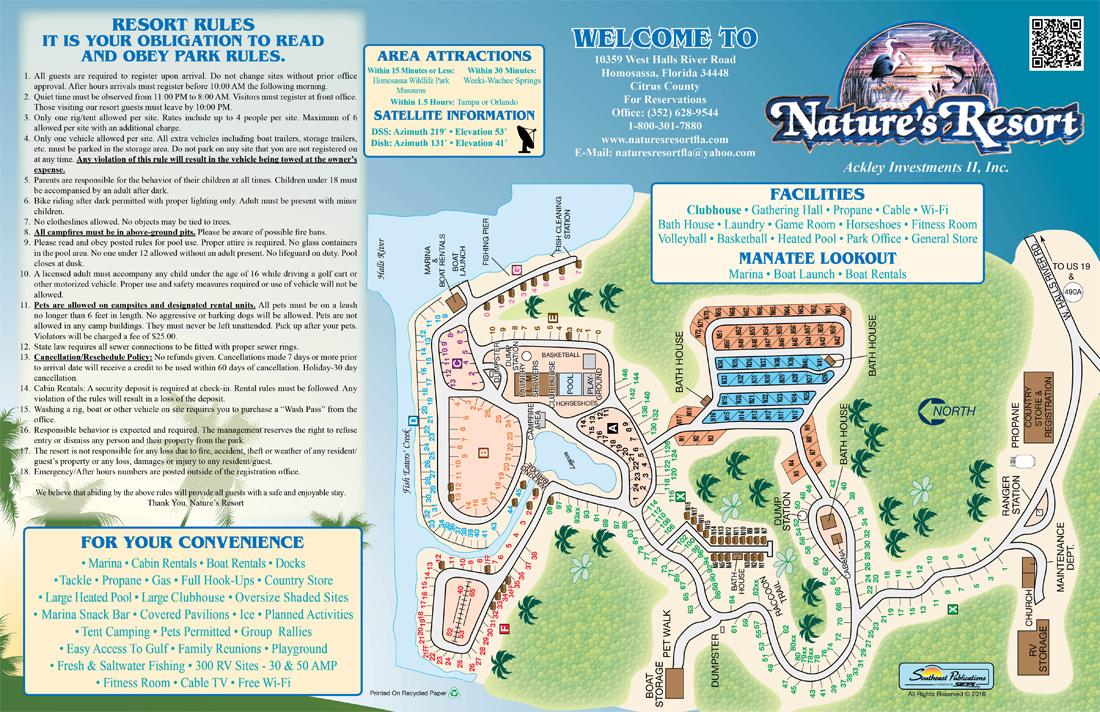 Nudist Resorts In Florida Map.Rates Natures Resort Rv Park